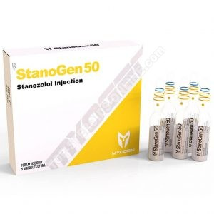 StanoGen 50 (Winstrol) - 50 mg / ml - φύσιγγες 5 της 1ml - MyoGen (-50% SUMMER SALES)