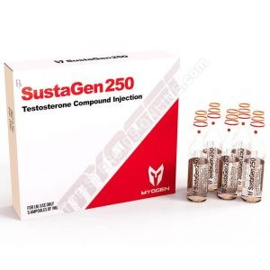 SustaGen 250 (Sustanon) - 250 mg / ml - ampolas 5 de 1ml - MyoGen