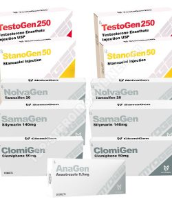 PACK LEAN MUSCLE LEVEL I (INJECT) MYOGEN – TESTOGEN + STANOGEN + PROTECTION + PCT (8 WEEKS)