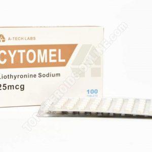 CYTOMEL (Liothyronine Sodium) - A-Tech Labs - 25mcg - Box of 100tabs