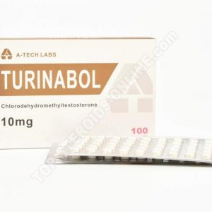 Turinabol (Chlorodehydromethyltestosterone) – A-Tech Labs – 10mg – Boîte de 100tabs