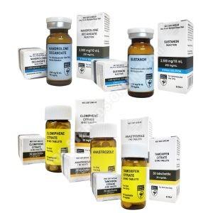 Pack prise de masse (INJECT) HILMA – SUSTA 250 DECA 250 + PCT (8 semaines)