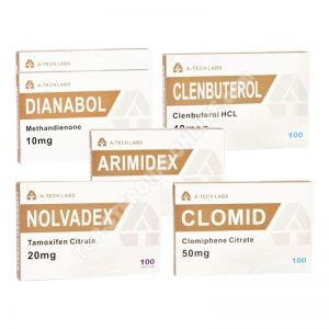 PACK MUSCLE SEC (ORAL) A-TECH LABS – DIANABOL + CLENBUTEROL + PCT (8 semaines)