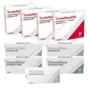 PACK MASS (INJECT) MYOGEN - TESTOGEN 250 + PROTECTION + PCT (8 WEEKS)