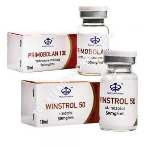 Confezione secca e perdita di peso - Winstrol + Primobolan - Steroidi iniettabili - Maha Pharma