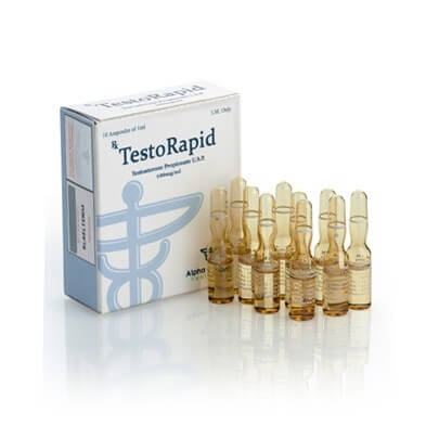 TestoRapid Test Prop 100mg / ml 10 x 1ml Ampere - Alpha-Pharma