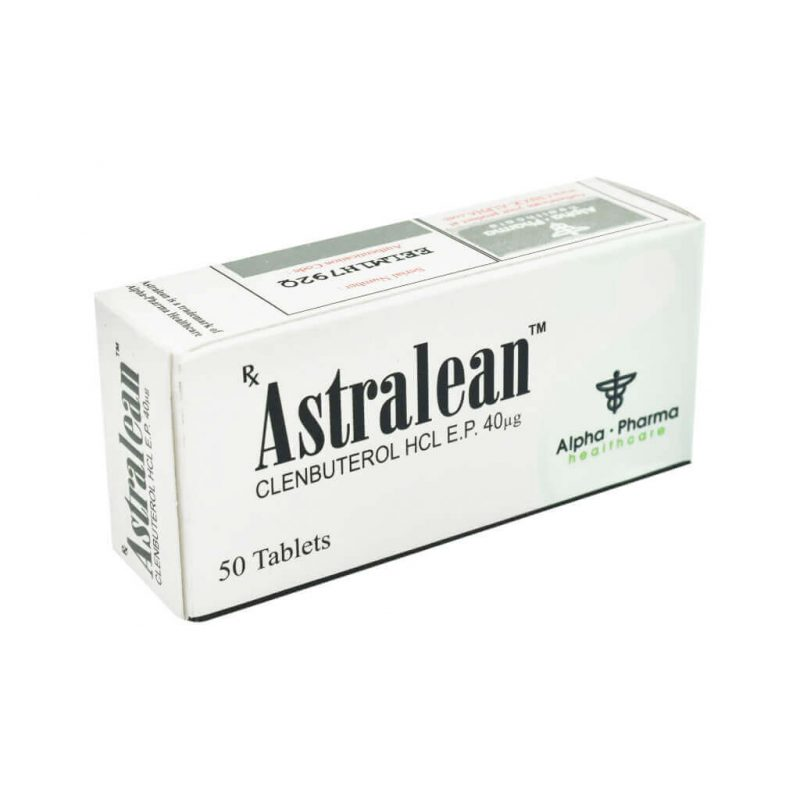 Astralean Clenbuterol - 50 tablets 40mcg - Alpha-Pharma