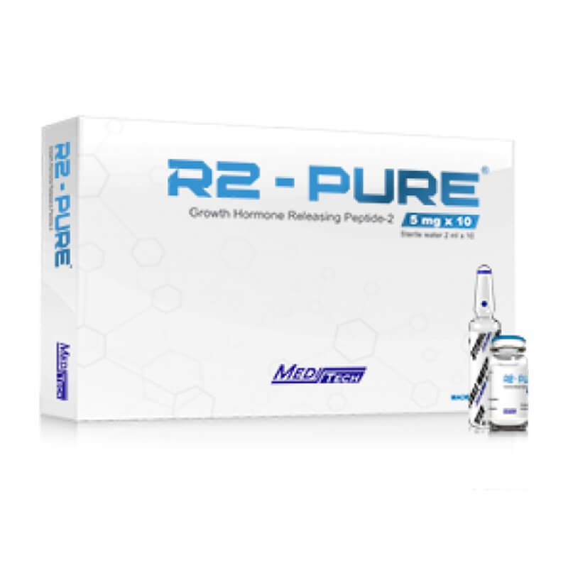 R2-PURE Growth Hormone Releasing Peptide-2 5mg / vial 10vials / box - Meditech