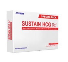 SUSTAIN HCG RX Special Pack Chorionic Human Gonadotropin 5000iu / vial 3vials / box - Meditech