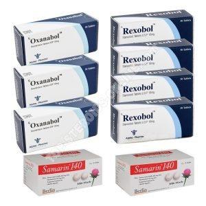 Pack Prise de masse sèche (ORAL) – ANAVAR+ WINSTROL+ PROTECTION (6 semaines) Alpha-Pharma