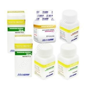 Mass gain pack (INJECT) - ENANTHATE 250 + PROTECTION + PCT (8 weeks) (Meditech)