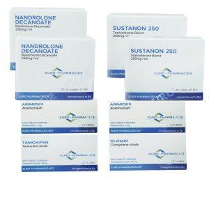 Paquete de ganancia de masa NIVEL II (INYECTAR) - SUSTANON 250 + DECA 250 + PCT (8 semanas) Euro Pharmacies