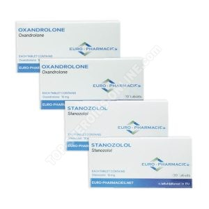 Pacchetto di guadagno di massa secca (ORALE) - ANAVAR + WINSTROL + PROTEZIONE (settimane 6) Euro Farmacie