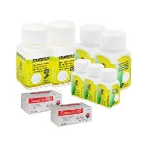 Пакет для похудения (ОРАЛ) - ANAVAR + WINSTROL + ЗАЩИТА (6 недели) LA Pharma