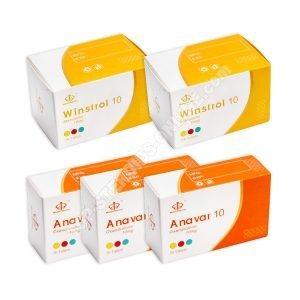 Packung mit trockener Masse (ORAL) - ANAVAR + WINSTROL + PROTECTION (6 Wochen) Maha Pharma