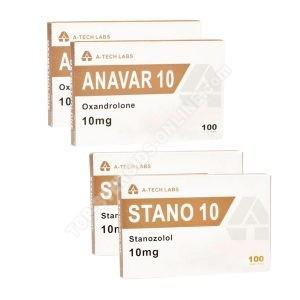 Pacote de perda de peso (ORAL) - ANAVAR + WINSTROL + PROTECTION (6 semanas) Laboratórios A-Tech