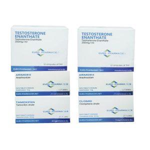 Balíček s hromadným ziskem (INJECT) - TESTOSTERON ENANTHATE 250 + OCHRANA + PCT Euro lékárny