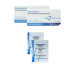 Pack prise de masse sèche LEVEL I (ORAL) – TURINABOL + PROTECTION + PCT (6 semaines) Euro Pharmacies