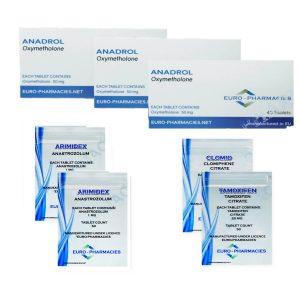 Pack prise de masse – Stéroide oral Anadrol (4 semaines) Euro Pharmacies