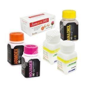 Пакет с массой - оральный стероид Анадрол (4 недели) Черный дракон