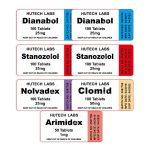 Balení pro suchou hmotu - perorální steroidy Dianabol + Winstrol (8 týdnů) Hutech Labs