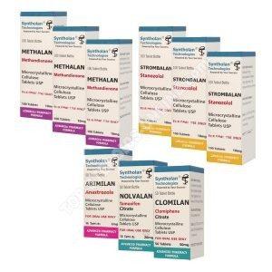 Сухой вес, принимающий пакет - пероральные стероиды Дианабол + Винстрол (8 недели) Syntholan