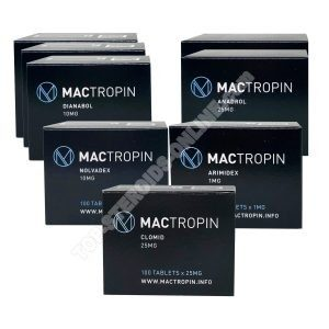 MACTROPIN Ultimate Mass Pack - Dianabol + Anadrol - Doustne sterydy (tygodnie 8)