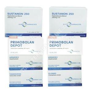Pack prise de masse sèche (INJECT) – SUSTANON + PRIMOBOLAN + PCT (8 semaines) Euro Pharmacies