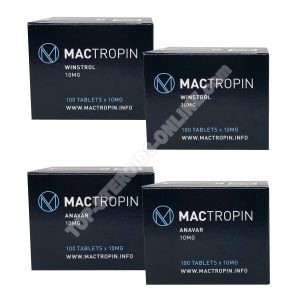 Pacote Seco - Esteroides orais Anavar + Winstrol (6 semanas) Mactropin