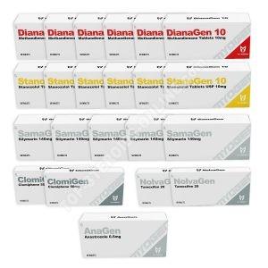 حزمة زيادة الكتلة الجافة (عن طريق الفم) MYOGEN - DIANAGEN + STANOGEN (8 أسابيع)