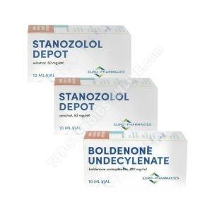 Balíček vytrvalosti - Boldenon + Winstrol - Injekční steroidy - Lékárny Euro