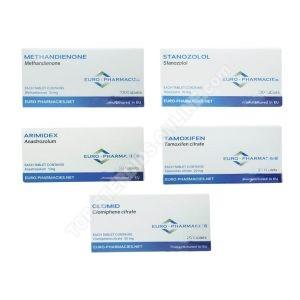 Pakiet przyrostu masy beztłuszczowej - doustne sterydy Dianabol + Winstrol (4 tygodni) Euro Pharmacies