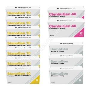 Dry pack - Myogen - StanoGen + Clenbugen - Oral steroids (10 Weeks)
