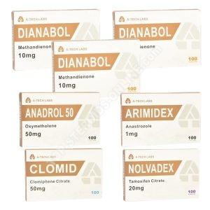 Pack prise de masse ultimate – Dianabol + Anadrol- Stéroides oraux (8 semaines) A-Tech
