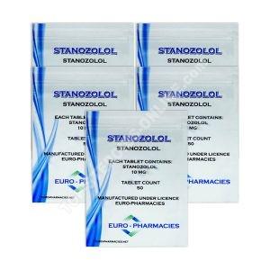 Paquete seco - Euro Pharmacies - Winstrol - Esteroides orales (6 semanas)