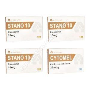 Dry Pack - станозолол + T3 Cytomel - пероральные стероиды (недели 8) A-Tech Labs