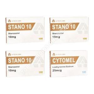 Trockenpackung - Stanozolol + T3 Cytomel - Orale Steroide (8 Wochen) A-Tech Labs