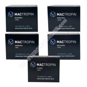 Pack prise de masse sèche – Stéroides oraux Dianabol + Winstrol (4 semaines) Mactropin
