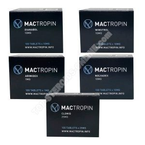 Packung mit Trockenmasse - orale Steroide Dianabol + Winstrol (4 Wochen) Mactropin