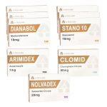 Paquete de ganancia de masa seca - Esteroides orales Dianabol + Winstrol (8 semanas) A-Tech Labs