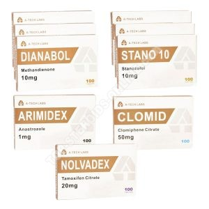 Dry Mass Pack - Oral Steroids Dianabol + Winstrol (8 Weeks) A-Tech Labs