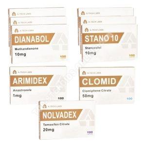 Pack Lean Mass Gain - orale Steroide Dianabol + Winstrol (8 Wochen) A-Tech Labs