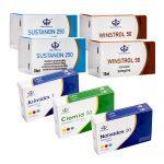 Pack Prise De Masse Sèche LEVEL II (INJECT) – SUSTANON+ WINSTROL + PROTECTION + PCT (8 Semaines) Maha Pharma