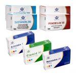 NIVEL II Paquete de ganancia de masa seca (INYECTO) Maha Pharma - SUSTANON + PRIMOBOLAN + PCT (8 semanas)