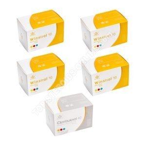 Сухой пакет - Маха Фарма - Винстрол + Кленбутерол - пероральные стероиды (10 недель)