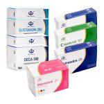 Pack Prise De Masse LEVEL III (INJECT) SUSTANON + DECA + DIANABOL (8 Semaines) Maha Pharma