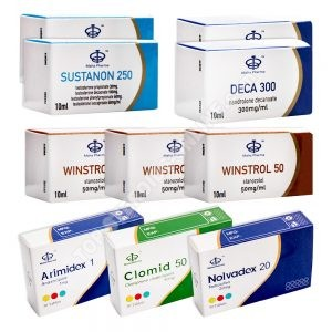 Pacchetto di guadagno di massa secca (INJECT) SUSTANON + DECA + WINSTROL (8 settimane) Maha Pharma