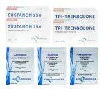 Pack Prise De Masse Sèche LEVEL II (INJECT) Euro Pharmacies – Sustanon + Tri-Tren (10 Semaines)
