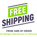 FREE SHIPPING ON MYOGEN WAREHOUSE IN FEBRUARY