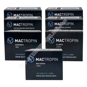 BALENÍ PRO SUŠENÍ HMOTNOSTI - TESTOSTERON PROPIONÁT + TRENBOLON ACETÁT + PCT (6 týdnů) Mactropin